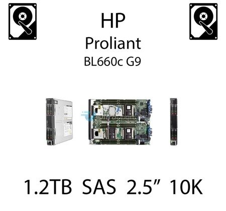 """1.2TB 2.5"""" dedykowany dysk serwerowy SAS do serwera HP ProLiant BL660c G9, HDD Enterprise 10k, 6Gbps - 718162-B21 (REF)"""
