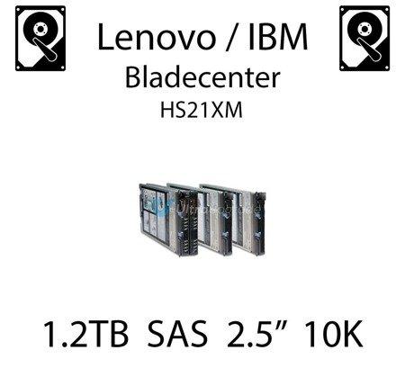 "1.2TB 2.5"" dedykowany dysk serwerowy SAS do serwera Lenovo / IBM Bladecenter HS21XM, HDD Enterprise 10k, 600MB/s - 00AD075"