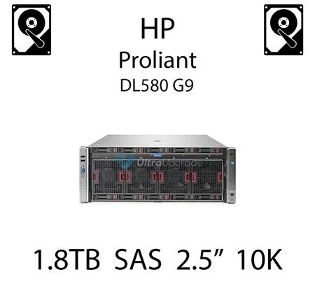 """1.8TB 2.5"""" dedykowany dysk serwerowy SAS do serwera HP Proliant DL580 G9, HDD Enterprise 10k, 12Gbps - 791055-001 (REF)"""