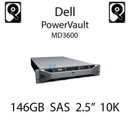 """146GB 2.5"""" dedykowany dysk serwerowy SAS do serwera Dell PowerVault MD3600, HDD Enterprise 10k, 600MB/s - X829K"""