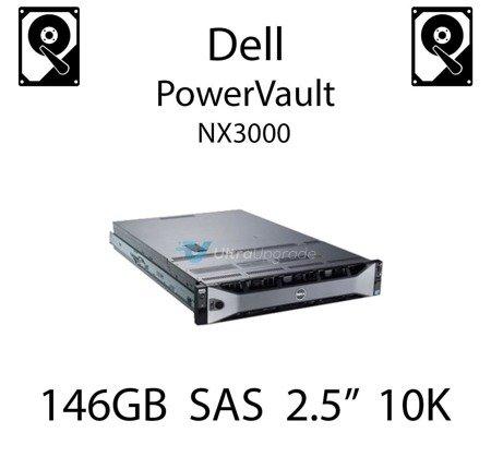 """146GB 2.5"""" dedykowany dysk serwerowy SAS do serwera Dell PowerVault NX3000, HDD Enterprise 10k, 600MB/s - X829K"""