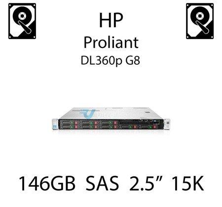 """146GB 2.5"""" dedykowany dysk serwerowy SAS do serwera HP ProLiant DL360p G8, HDD Enterprise 15k - 652605-B21 (REF)"""