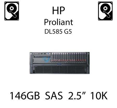 """146GB 2.5"""" dedykowany dysk serwerowy SAS do serwera HP ProLiant DL585 G5, HDD Enterprise 10k - 507283-001 (REF)"""