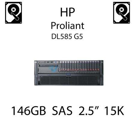 """146GB 2.5"""" dedykowany dysk serwerowy SAS do serwera HP ProLiant DL585 G5, HDD Enterprise 15k - 504062-B21 (REF)"""