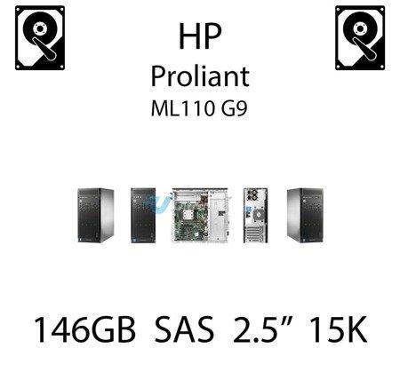 """146GB 2.5"""" dedykowany dysk serwerowy SAS do serwera HP ProLiant ML110 G9, HDD Enterprise 15k - 653950-001 (REF)"""