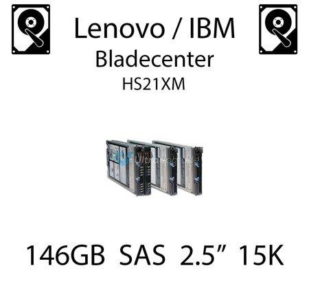 "146GB 2.5"" dedykowany dysk serwerowy SAS do serwera Lenovo / IBM Bladecenter HS21XM, HDD Enterprise 15k, 600MB/s - 44W2294"