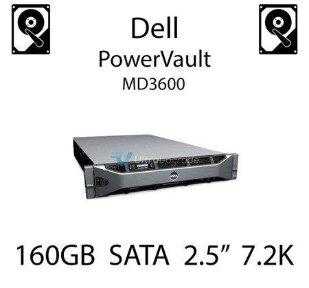 """160GB 2.5"""" dedykowany dysk serwerowy SATA do serwera Dell PowerVault MD3600, HDD Enterprise 7.2k, 3Gbps - K836N"""