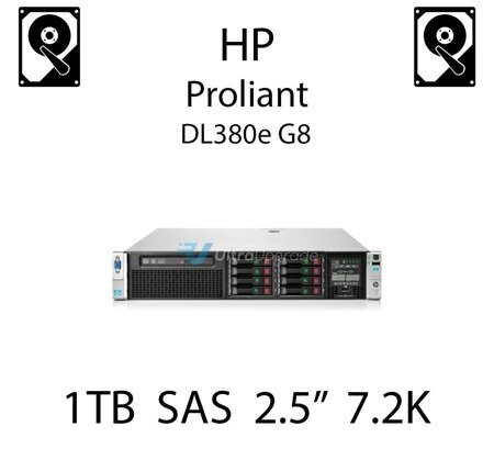 """1TB 2.5"""" dedykowany dysk serwerowy SAS do serwera HP ProLiant DL380e G8, HDD Enterprise 7.2k, 6Gbps - 653954-001 (REF)"""