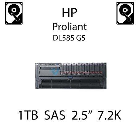 """1TB 2.5"""" dedykowany dysk serwerowy SAS do serwera HP ProLiant DL585 G5, HDD Enterprise 7.2k - 606020-001 (REF)"""