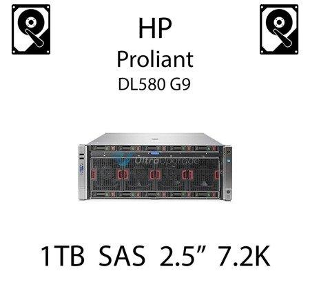 """1TB 2.5"""" dedykowany dysk serwerowy SAS do serwera HP Proliant DL580 G9, HDD Enterprise 7.2k, 6Gbps - 652749-B21 (REF)"""