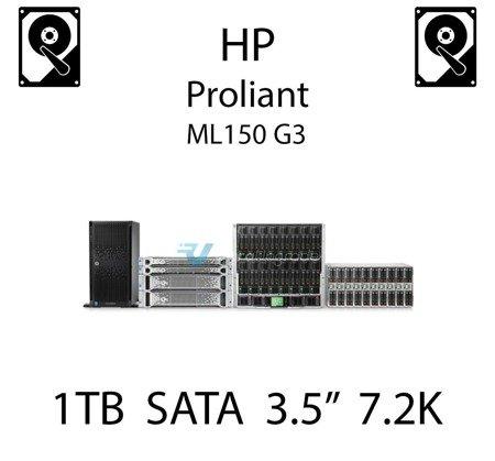 """1TB 3.5"""" dedykowany dysk serwerowy SATA do serwera HP ProLiant ML150 G3, HDD Enterprise 7.2k - 454146-B21 (REF)"""