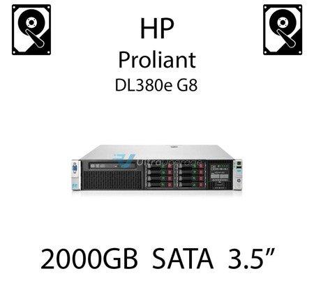 """2000GB 3.5"""" dedykowany dysk serwerowy SATA do serwera HP ProLiant DL380e G8, HDD Enterprise 7.2k, 6Gbps - 658079-B21 (REF)"""