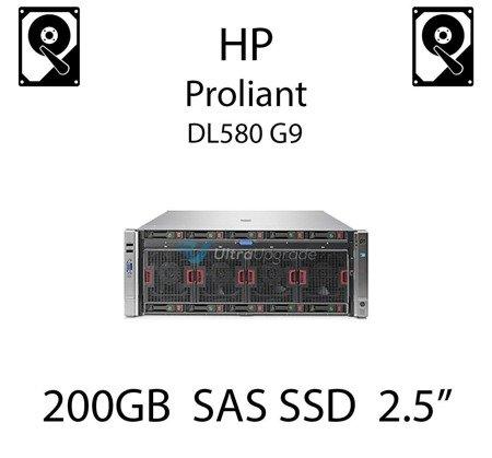 """200GB 2.5"""" dedykowany dysk serwerowy SAS do serwera HP Proliant DL580 G9, SSD Enterprise  - 690825-B21 (REF)"""