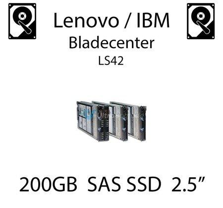 "200GB 2.5"" dedykowany dysk serwerowy SAS do serwera Lenovo / IBM Bladecenter LS42, SSD Enterprise , 600MB/s - 49Y6129"