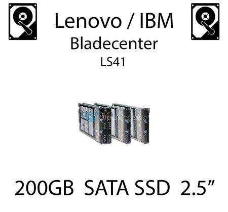 """200GB 2.5"""" dedykowany dysk serwerowy SATA do serwera Lenovo / IBM Bladecenter LS41, SSD Enterprise , 300MB/s - 41Y8331"""