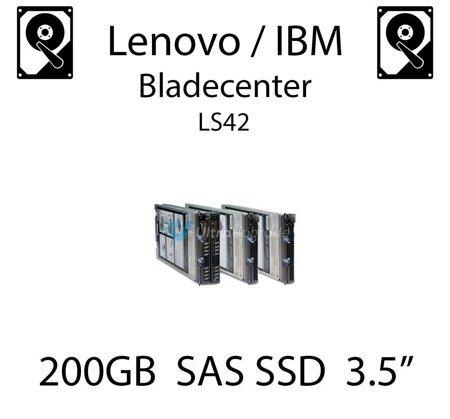 """200GB 3.5"""" dedykowany dysk serwerowy SAS do serwera Lenovo / IBM Bladecenter LS42, SSD Enterprise , 600MB/s - 00W1306"""