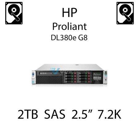 """2TB 2.5"""" dedykowany dysk serwerowy SAS do serwera HP ProLiant DL380e G8, HDD Enterprise 7.2k, 12Gbps - 765873-001 (REF)"""