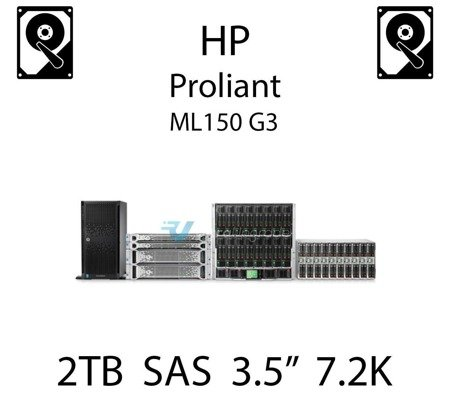 """2TB 3.5"""" dedykowany dysk serwerowy SAS do serwera HP ProLiant ML150 G3, HDD Enterprise 7.2k, 6GB/s - 508010-001 (REF)"""