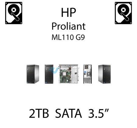 """2TB 3.5"""" dedykowany dysk serwerowy SATA do serwera HP ProLiant ML110 G9, HDD Enterprise , 6Gbps - 659339-B21 (REF)"""