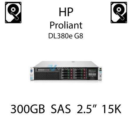 """300GB 2.5"""" dedykowany dysk serwerowy SAS do serwera HP ProLiant DL380e G8, HDD Enterprise 15k, 12Gb/s - 759208-B21 (REF)"""
