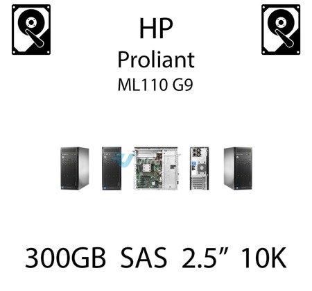 """300GB 2.5"""" dedykowany dysk serwerowy SAS do serwera HP ProLiant ML110 G9, HDD Enterprise 10k, 6Gbps - 652564-B21 (REF)"""
