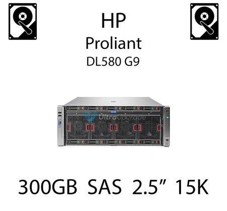 """300GB 2.5"""" dedykowany dysk serwerowy SAS do serwera HP Proliant DL580 G9, HDD Enterprise 15k, 12Gb/s - 759208-B21 (REF)"""