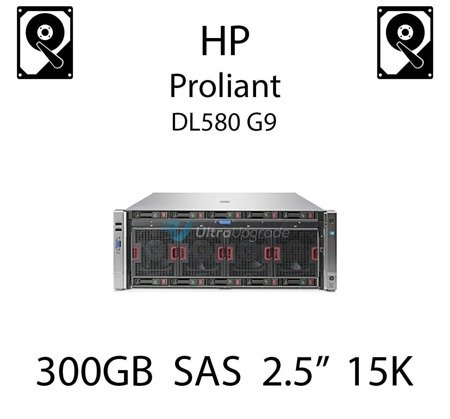 """300GB 2.5"""" dedykowany dysk serwerowy SAS do serwera HP Proliant DL580 G9, HDD Enterprise 15k - 653960-001 (REF)"""