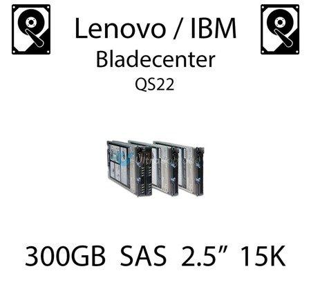 """300GB 2.5"""" dedykowany dysk serwerowy SAS do serwera Lenovo / IBM Bladecenter QS22, HDD Enterprise 15k, 600MB/s - 81Y9670"""