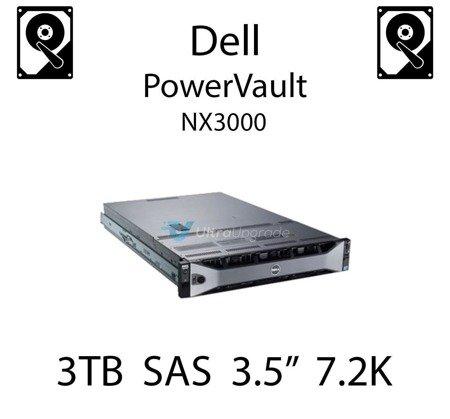 """3TB 3.5"""" dedykowany dysk serwerowy SAS do serwera Dell PowerVault NX3000, HDD Enterprise 7.2k, 6Gbps - 698PM"""