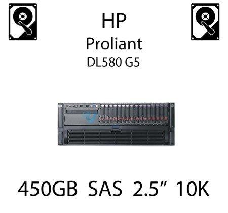 """450GB 2.5"""" dedykowany dysk serwerowy SAS do serwera HP ProLiant DL580 G5, HDD Enterprise 10k - 581310-001 (REF)"""