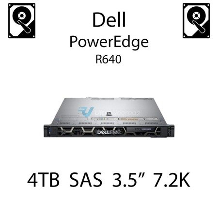 "4TB 3.5"" dedykowany dysk serwerowy SAS do serwera Dell PowerEdge R640, HDD Enterprise 7.2k, 12Gbps - 400-ATKL"