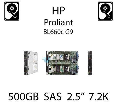 """500GB 2.5"""" dedykowany dysk serwerowy SAS do serwera HP ProLiant BL660c G9, HDD Enterprise 7.2k, 6Gbps - 652745-B21 (REF)"""