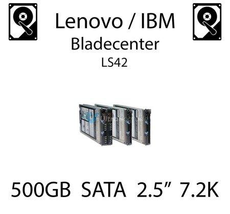 """500GB 2.5"""" dedykowany dysk serwerowy SATA do serwera Lenovo / IBM Bladecenter LS42, HDD Enterprise 7.2k, 600MB/s - 81Y9726"""