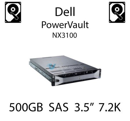 """500GB 3.5"""" dedykowany dysk serwerowy SAS do serwera Dell PowerVault NX3100, HDD Enterprise 7.2k, 6Gbps - U717K"""
