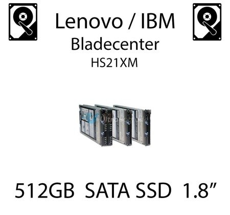 "512GB 1.8"" dedykowany dysk serwerowy SATA do serwera Lenovo / IBM Bladecenter HS21XM, SSD Enterprise , 600MB/s - 49Y5993"