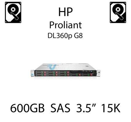 """600GB 3.5"""" dedykowany dysk serwerowy SAS do serwera HP ProLiant DL360p G8, HDD Enterprise 15k, 6Gbps - 652620-B21 (REF)"""