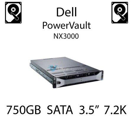 """750GB 3.5"""" dedykowany dysk serwerowy SATA do serwera Dell PowerVault NX3000, HDD Enterprise 7.2k, 320MB/s - JW551"""