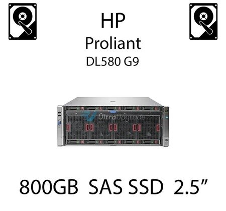 "800GB 2.5"" dedykowany dysk serwerowy SAS do serwera HP Proliant DL580 G9, SSD Enterprise  - 780434-001 (REF)"