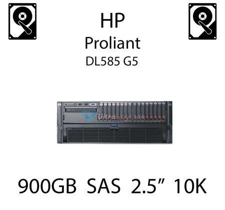 """900GB 2.5"""" dedykowany dysk serwerowy SAS do serwera HP ProLiant DL585 G5, HDD Enterprise 10k - 619463-001 (REF)"""