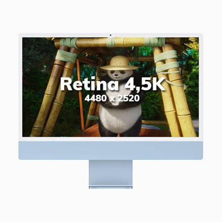 Apple iMac 24 Retina 4.5K Procesor M1 8 rdzeni 3,2GHz, GPU 8 rdzeni  SSD 256GB RAM 8GB Srebrny (Silver)