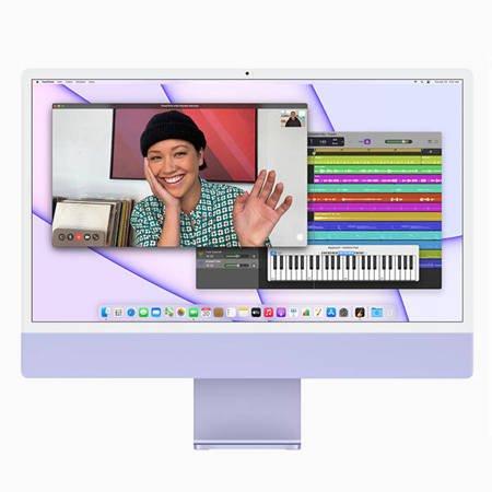Apple iMac 24 Retina 4.5K Procesor M1 8 rdzeni 3,2GHz, GPU 8 rdzeni  SSD 512GB RAM 16GB Niebieski (Blue)