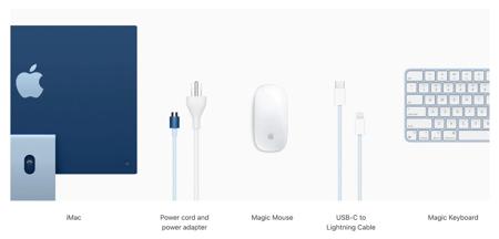 Apple iMac 24 Retina 4.5K Procesor M1 8 rdzeni 3,2GHz, GPU 8 rdzeni  SSD 512GB RAM 8GB Żółty (Yellow)