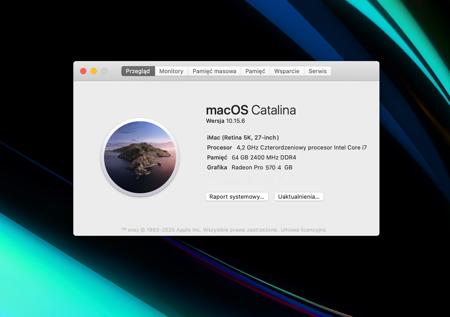 Apple iMac 27, i7 4,2GHz, Retina 5K, 64GB, 2TB SSD
