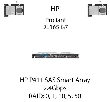 Kontroler RAID HP P411 SAS Smart Array, 2.4Gbps - 578229-B21