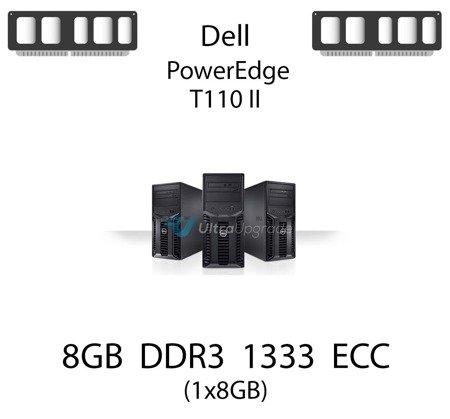 Pamięć RAM 8GB DDR3 dedykowana do serwera Dell PowerEdge T110 II, ECC UDIMM, 1600MHz